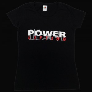 Powerlifting T-Shirt - black (Ladies fits)