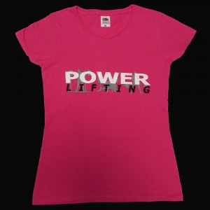Powerlifting T-Shirt - pink (Ladies fits)