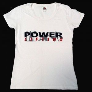 Powerlifting T-Shirt - white (Ladies fits)