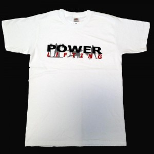 Powerlifting T-Shirt - white 2017