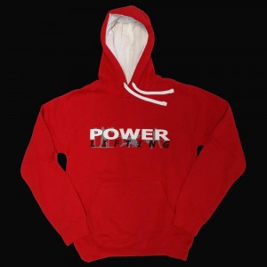 Powerlifting Hooded Jumper - red