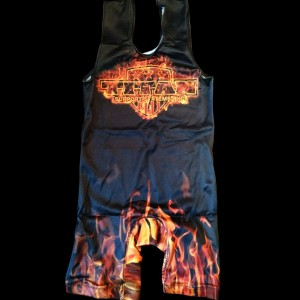 Titan Triumph Singlet - orange fire